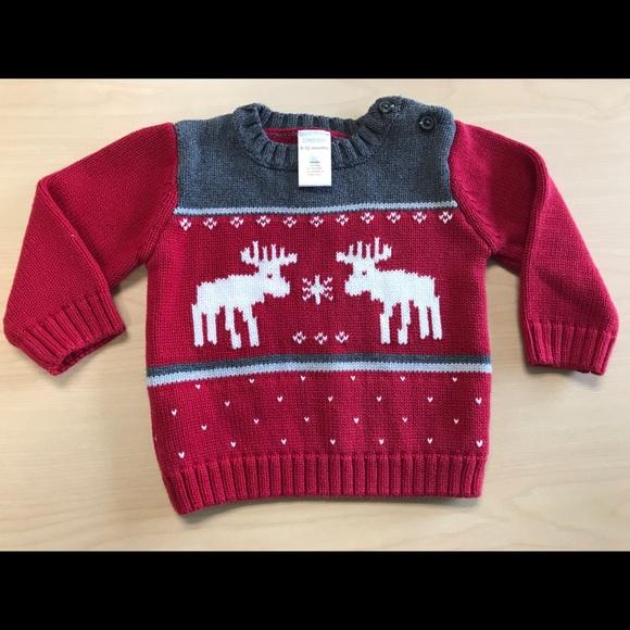 f8626a4fb Gymboree Shirts & Tops | Baby Boy Moose Christmas Sweater 612 Mo ...